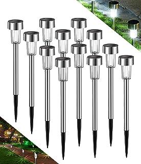 Avoalre Lot de 12 Lampes Solaires Exterieurs Lampe Solaire Jardin Etanche IP44 Lampe LED Exterieur Automatique Rechargeabl...