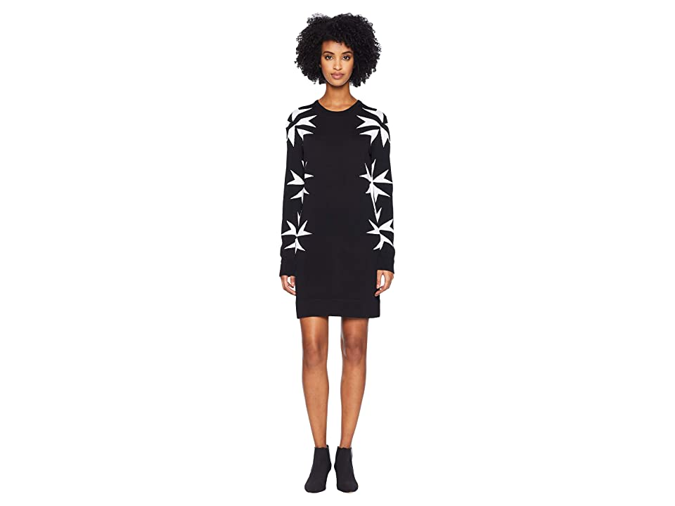 Neil Barrett Military Star Knit Dress (Black/White) Women