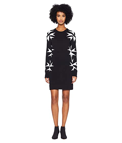 Neil Barrett Military Star Knit Dress
