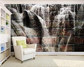 Wallpaper 3D Wall Abstraction Brick Wall Waterfall Home Decoration Home Bedroom Box Decoration Salon 3D Behang Slaapkamer ...