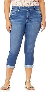 WallFlower Women's Plus-Size InstaSoft Ultra Fit Skinny Crop Jeans
