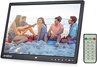 Digital Photo Frame 15 inch, Andoer Digital Picture Frame 15 inch 1280x800 HD Resolution 16:9 Wide Picture Screen with Infrared Remote Control 7 Touch Key with Detchable Stent