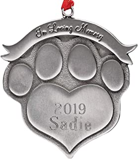 Fox Valley Traders Pet Memorial Ornament Personalized