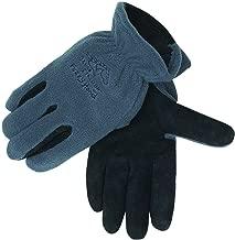 Black Stallion 15FH-GRAY FuzzyHand Polar Fleece and Split Cowhide Winter Gloves - Medium