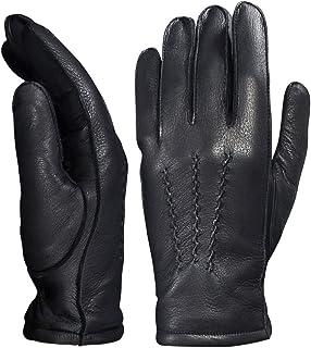 YISEVEN Men`s Deerskin Leather Warm Fleece Lined Dress Classical Luxury Gloves