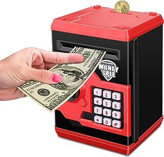 بنك خنزيري إلكتروني آمن على المال، عملات نقدية ATM ، صندوق توفير بنك صغير بكلمات السر الأوتوماتيكية بوزعة الأوراق النقدية ...