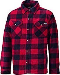 Dickies Portland Homme, Chemise Polaire, Rouge, M