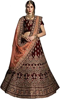 1e51d4c9a9b611 Globalia Creation embroidered semi stitched lehenga for women | womens  Today preminum lehengas collection 2018