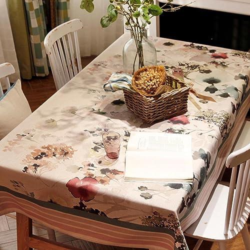 xiaowu Tinte Digitaldruck Garten Tischdecke Dicker Leinen Tisch Kaffee Esstisch Tischtuch, 140  220cm