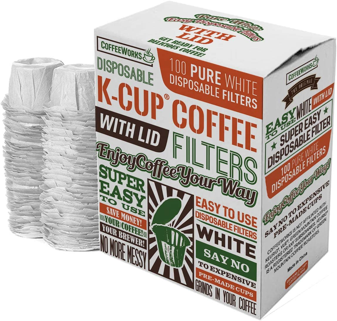 Disposable White Paper Coffee Filters - Replace With Premium ...