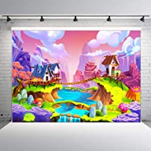 DLERGT 7X5ft Happy Birthday Photography Backdrops Beautiful Cartoon Photo Background for Children Baby Themed Party Photo Studio Backdrop Props 2-454