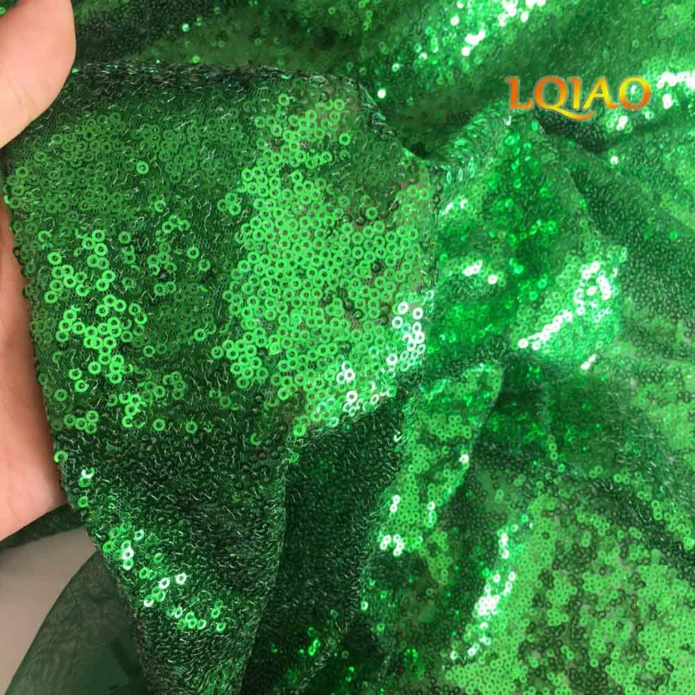 Limited time trial price LQIAO Apple Green Sequin Fabric Large-scale sale The by Yar Sparkly