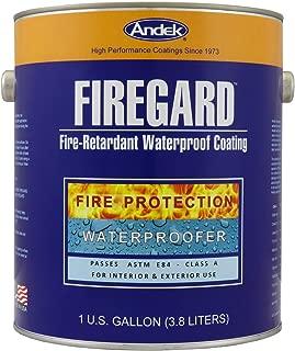 Andek Firegard, Fire Retardant Coating, 1 Gallon, White