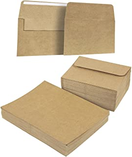 A7 Envelopes and Cards - 100-Count A7 Invitation Envelopes and 100-Count 5 x 7 Cards, Kraft Paper A7 Cards and Envelopes Set for Weddings, Graduations, Baby Showers, Parties, 5.25 x 7.25 Inches