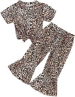 طفل طفل طفل فتاة الصيف ملابس ليوبارد طباعة بدلات قصيرة الأكمام قمم السراويل 2 قطعة أزياء أطفال مجموعة الملابس