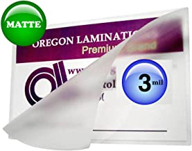 Oregon Lamination Hot Laminating Pouches Half Page (Pack of 100) 3 Mil 6 x 9-inch Matte/Matte
