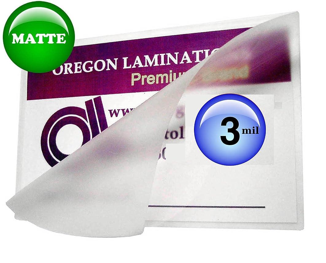 Oregon Lamination Hot Laminating Pouches Letter (pack of 100) 3 Mil 9 x 11-1/2-inch Matte/Matte