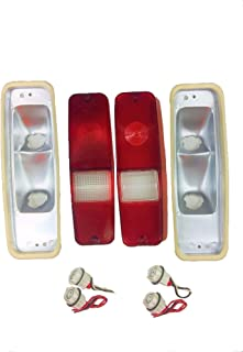 A-Team Performance Tail Light and Brake Lens Set Compatible With 69-75 D-Series Truck 70-78 International Scout II