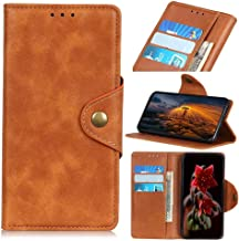 Wuzixi Case for LG K40. Anti-Scratch, Flip Case Side suction Kickstand Feature Card Slots Case, PU Leather Folio Cover for LG K40.Brown