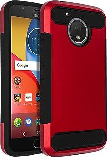 SENON Moto E4 Plus Case, Slim-fit Shockproof Anti-Scratch Anti-Fingerprint Protective Case Cover for Motorola Moto E4 Plus USA Version,Red