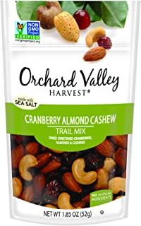 ORCHARD VALLEY HARVEST Cranberry Almond Cashew Trail Mix, 1.85 oz (Pack of 14), Non-GMO, No Artificial Ingredients
