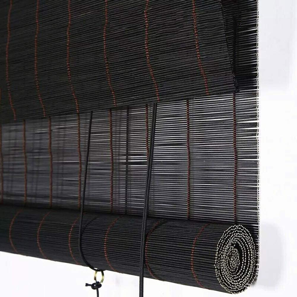YUANJJ Bamboo Roller Blinds Natural Shades Roman Al sold out. Lig Window Detroit Mall for