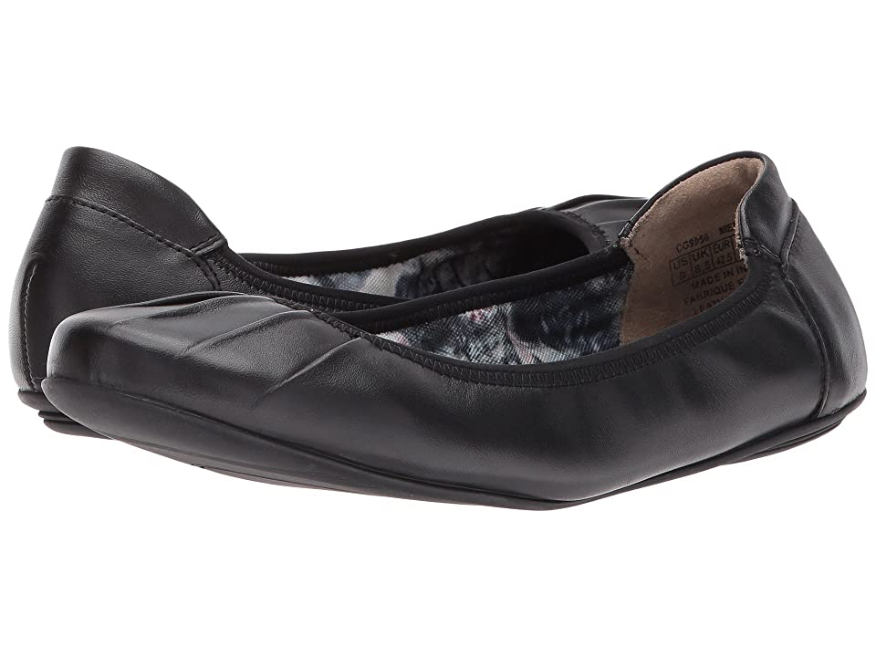 Rockport Rebecca Pleated (Black Leather) Women