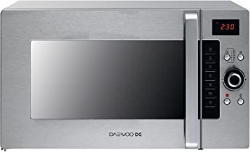 Daewoo KOC9Q4T Encimera 28L 900W Acero inoxidable - Microondas (Encimera, 28 L, 900 W, Botones, Giratorio, Acero inoxidable, 1300 W)
