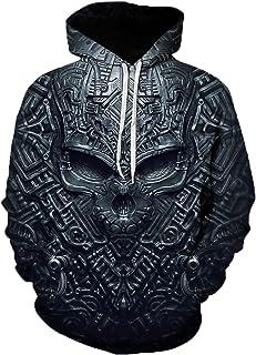 Mr.BaoLong&Miss.GO Fall and Winter Men Sweater Hooded Sweatshirt Sweatshirt Horror Skull Sweater Hoodie Loose Hooded Sweat...