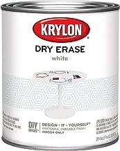 Krylon Dry Erase Brush Quart Paint, White, 6 1