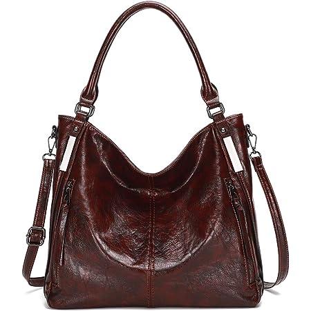KL928 tasche damen Handtasche gross Umhängetasche Schultertasche Damenhandtasche PU Leder elegante Tasche damen Henkeltaschen für frauen (braun)