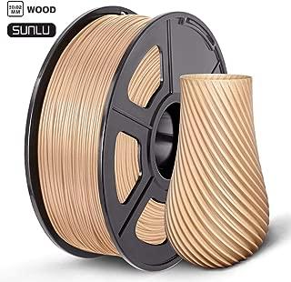 SUNLU WOOD Filamento, PLA Madera 1.75 1kg Spool Impresora 3D, Precisión dimensional +/- 0.02 mm, PLA Madera