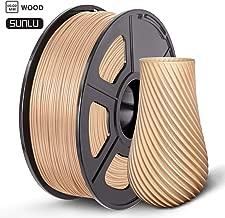 Wood PLA Filament 3D Printer Filament 1.75 mm SUNLU,Low Odor Dimensional Accuracy +/- 0.02 mm,2.2 LBS (1KG) (Wood)