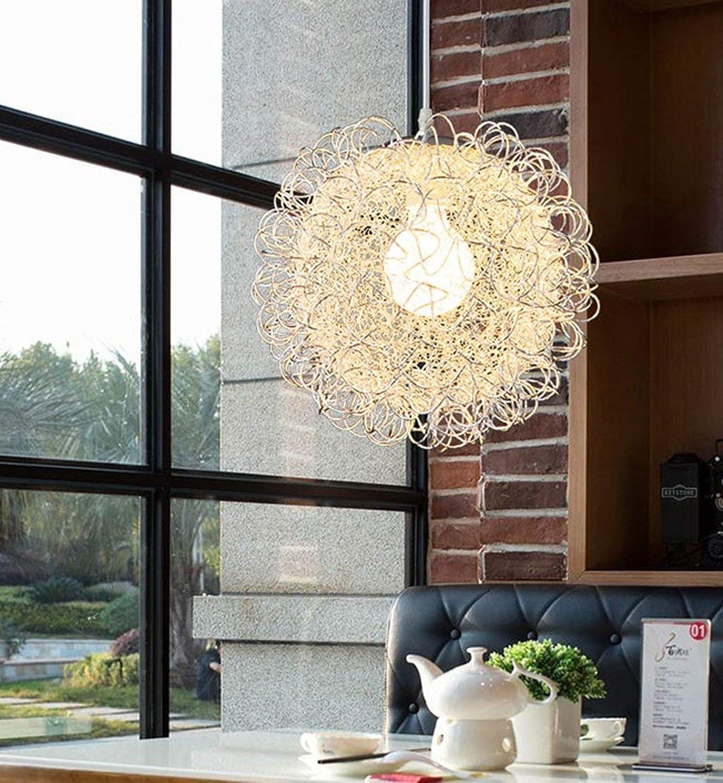 Einfache kreative moderne Zyklus einkpfige Sohn Anhnger der Vor-Ort-Restaurant, die Schlafzimmer Aluminium Kronleuchter Beleuchtung Lampen Laternen
