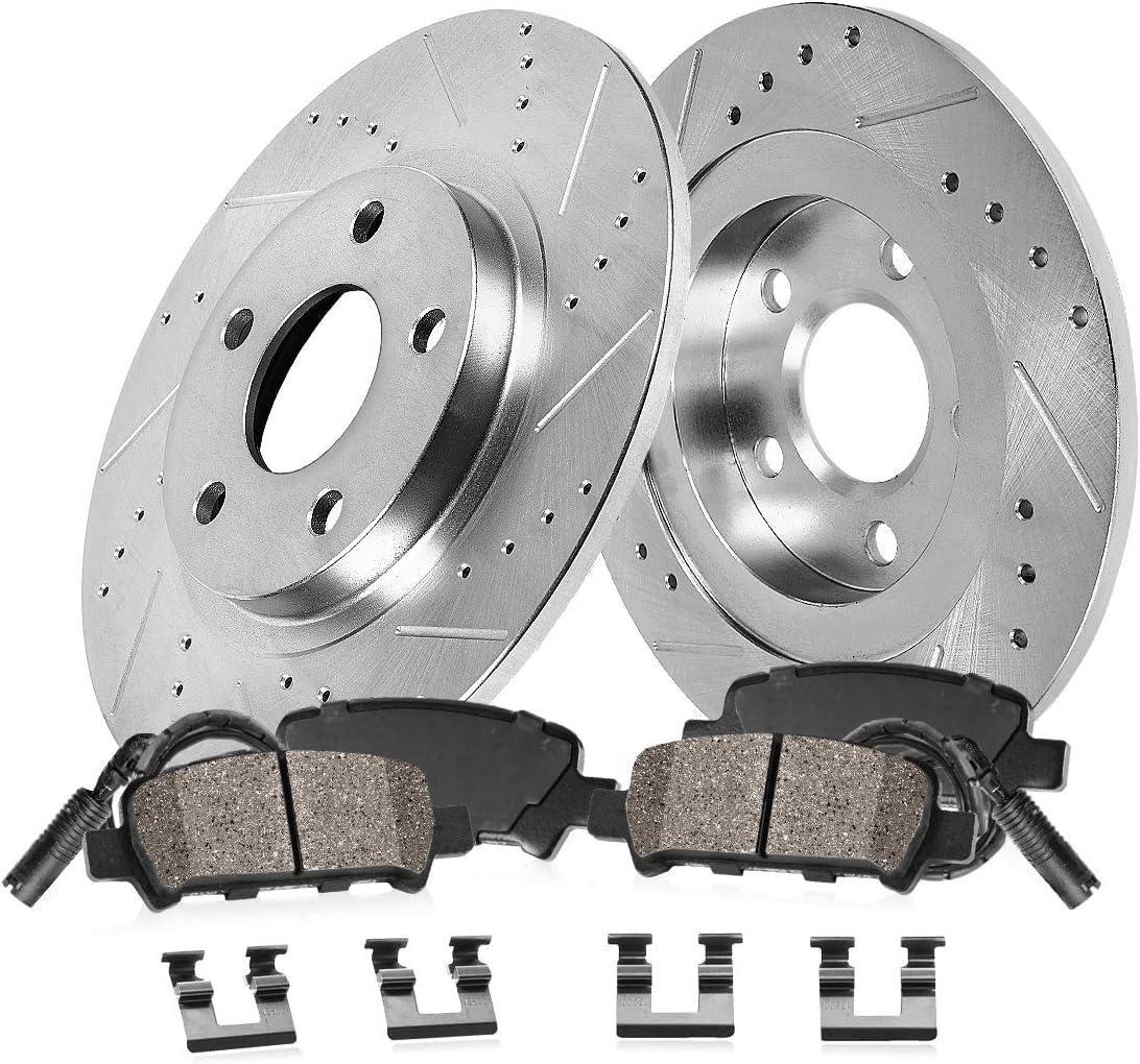 Arlington Mall Seattle Mall Callahan CDS02196 REAR 300mm D S 5 Rotors Lug 2 Ceramic Brak +