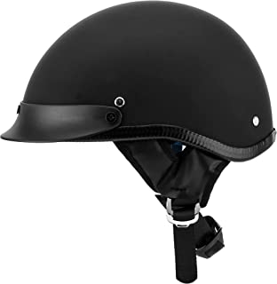 Vintage Half Motorcycle Helmet Fit for Bike Cruiser Scooter DOT Approved XL (Head Circumference 24-24.4 inches or 61-62cm)