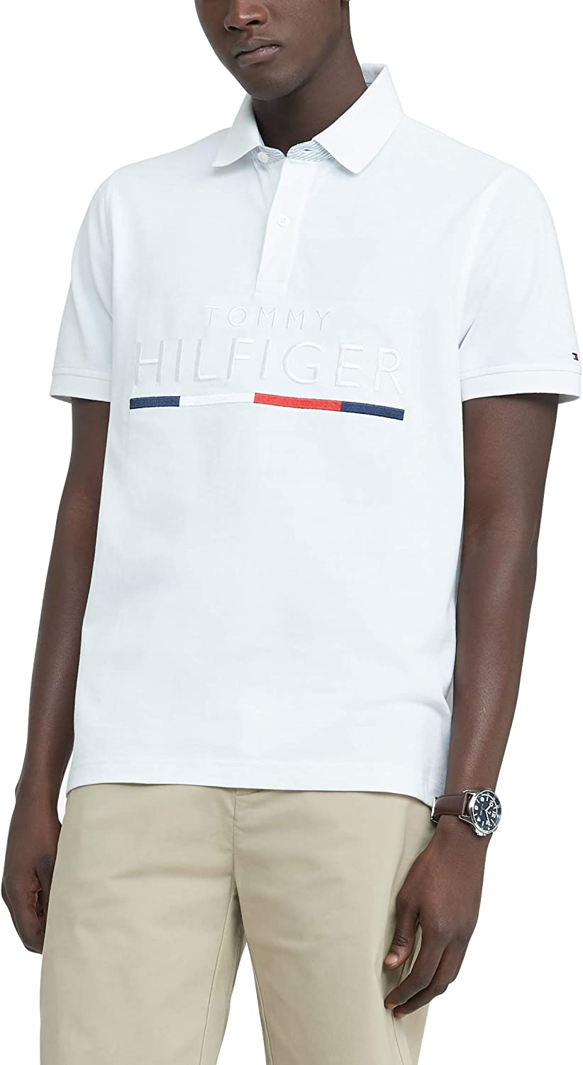 Tommy Hilfiger Men's Cheap mail order shopping Houston Mall Flag Pride in Fit Polo Shirt Custom
