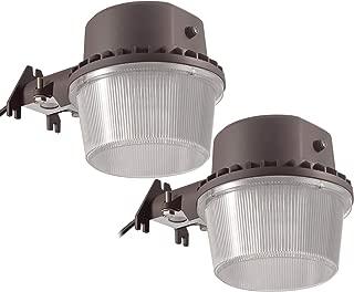 TORCHSTAR Dusk-to-Dawn LED Outdoor Barn Light (Photocell Included), 35W (250W Equiv.), 5000K Daylight Floodlight, DLC & ETL-Listed Yard Light for Area Lighting, Bronze, Pack of 2