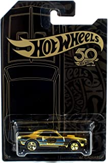 Hot Wheels 2018 50th Anniversary Black & Gold Series '67 Camaro Chase 1/64 Scale Diecast Model Car