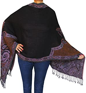 Boiled Wool Scarves Womens Indian Clothing Gift (76 x 28 inches)