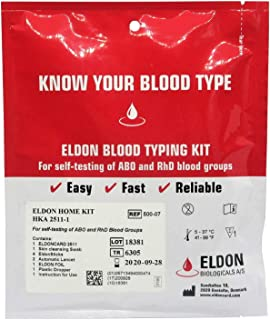 Blood Type Test Kit - 2 Tests - Eldoncard Home Blood Testing Kits (Complete Kit)