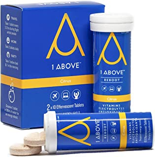 1Above Hydration, Immunity Recovery & Anti Jet Lag Drink Tablets for Travel Work Party - Pycnogenol Helps Energy, Circulat...