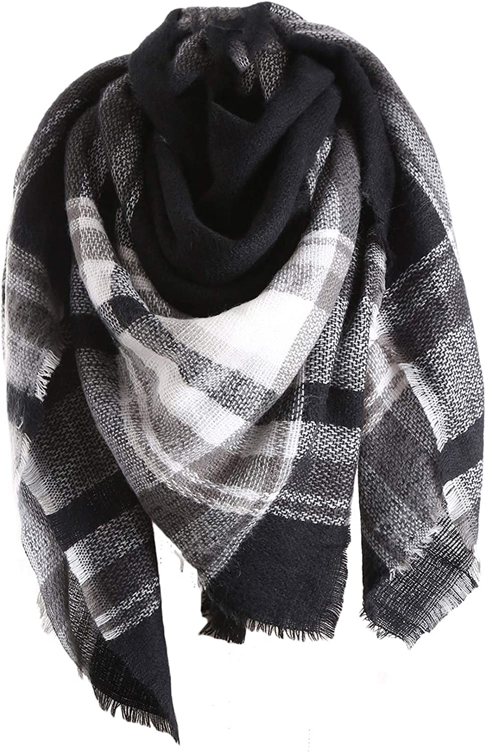 C-stylish Winter Women Limited time trial price Oversized Tartan Scarf Blanket Tasse with OFFicial