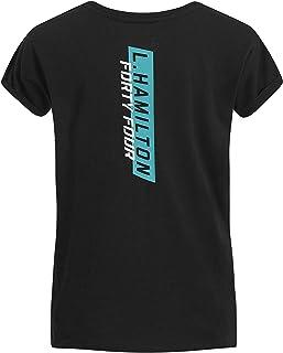 Mercedes AMG Petronas Motorsport F1 Women's Lewis Hamilton #44 T-Shirt Black