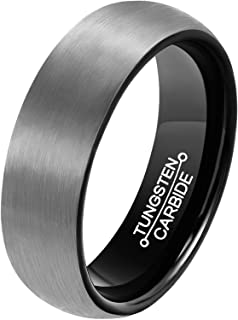 black matte tungsten ring