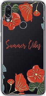 Suhctup Compatible con Xiaomi Redmi Note 7 Funda Flor de TPU Transparente Diseño de Flores Patrón Cárcasa Ultra Fina Suave...