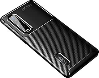 OPPO Find X2 Pro Case, Ikwcase Carbon Fibre Grip Slip-Resistant Soft TPU Silicone Shockproof Protection Case Cover for OPP...
