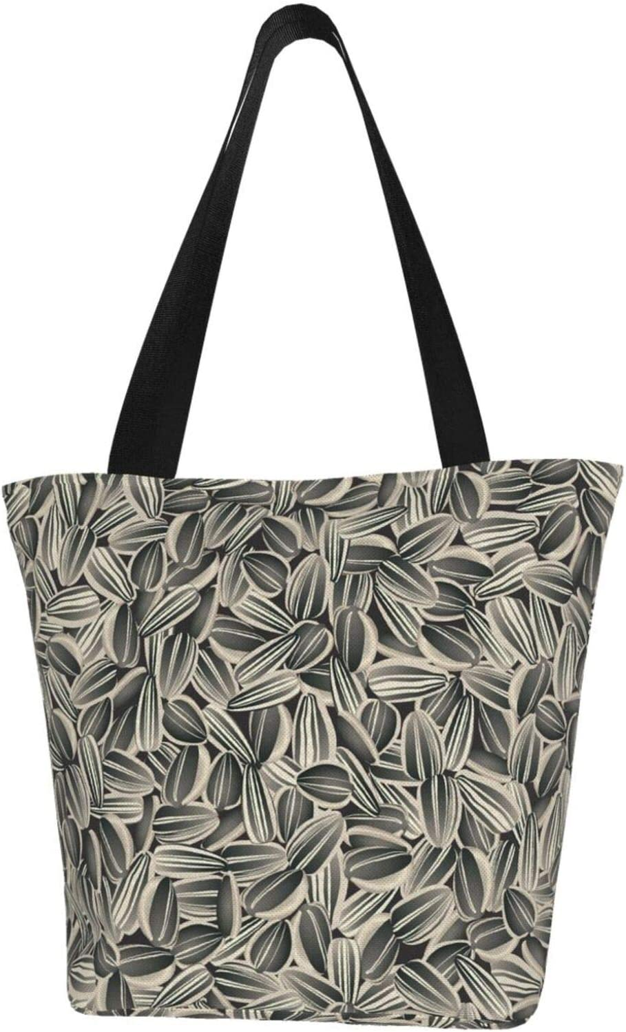 AKLID Sunflower Seeds Extra Large Canvas Resistant Max 44% OFF Ba Fashion Water Tote
