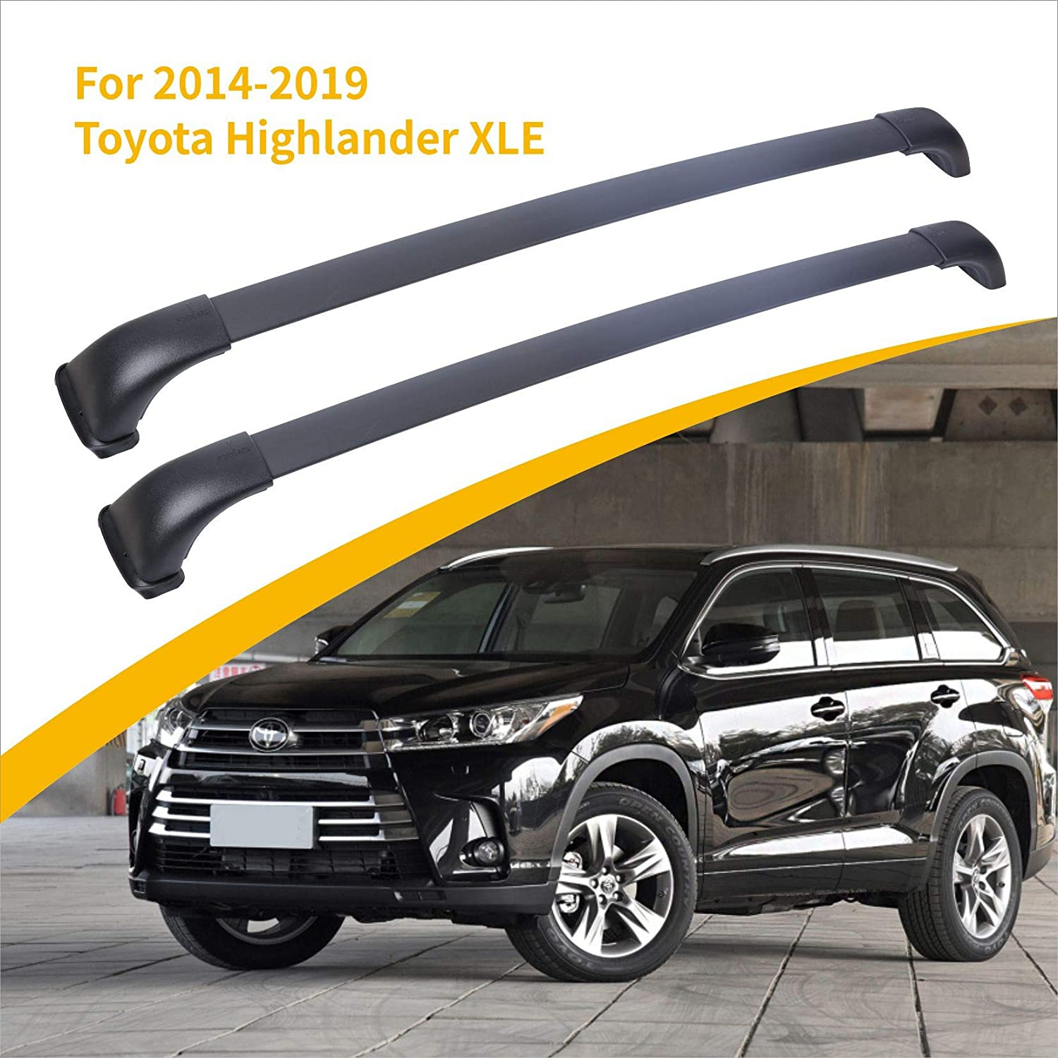 Roof Rack 5 ☆ very popular Challenge the lowest price of Japan ☆ Cross Bars Compatible 2014-2019 for Highlander Toyota