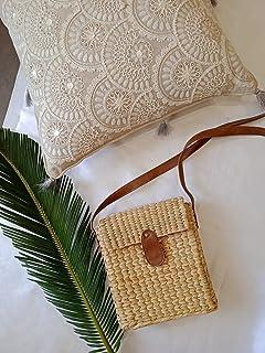 Jaipur Home Handgewebte Rattan-Tasche, Jutebeutel, umweltfreundlich, natürlich, stilvolle Tasche, Crossbody-Taschen, Vinta...